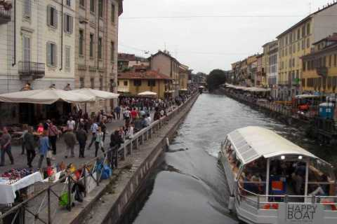 Milan: Navigli Evening Bike Tour with Aperitivo