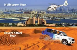 Dubai: Helikopterflug und Wüsten-Safari Kombi-Tour