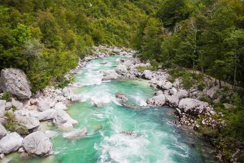 Viaje de un día por el río Soča desde Liubliana y Bled