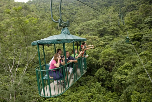 Costa Rica: Pacific Aerial Tram bij Rainforest Adventures
