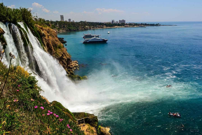 Antalya: Stadttour und Düden-Wasserfall mit Bootstour