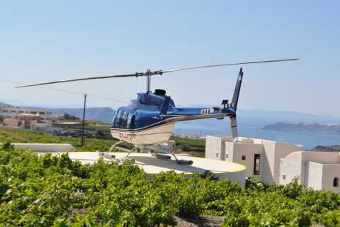 Vuelo de 20 minutos en helicóptero a Santorini