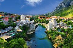 De Split/Trogir: Excursão em Grupo Mostar/Cachoeira Kravica