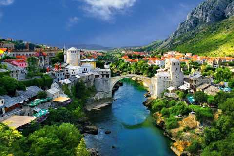 From Split or Trogir: Mostar & Kravica Waterfall Group Tour
