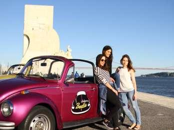 Lissabon: Halbtägige Spritztour im VW Beetle Cabriolet