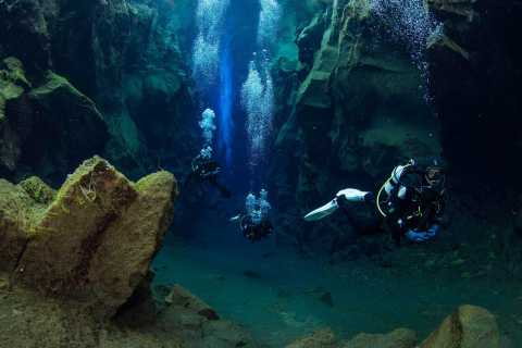 Diving in Silfra Fissure in Thingvellir National Park