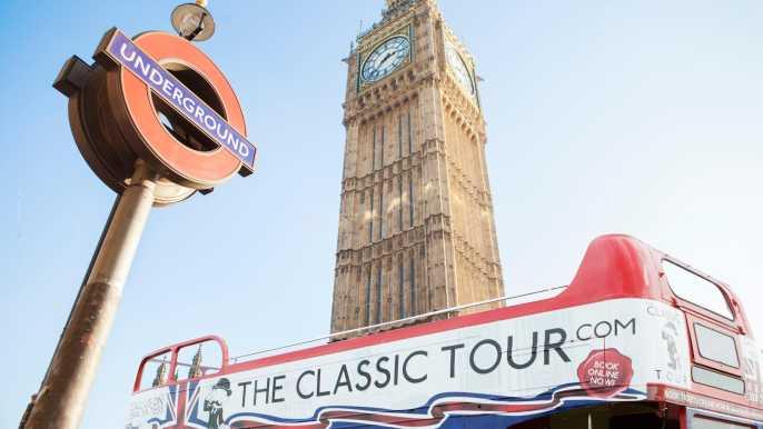 Londres: tour en autobús vintage descapotable