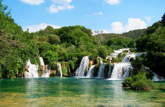 Vanuit Split/Trogir: dagtrip Krka Nationaal Park & Šibenik