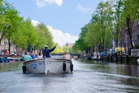 Amsterdam 75-minuten kanaalvaart in een open boot