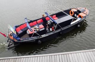 Amsterdam: 3-std. private Rad- und Bootstour mit Bier