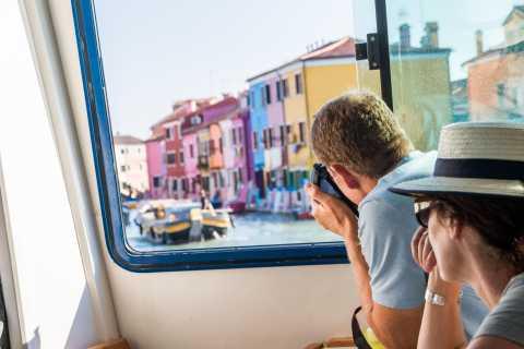 Paseo por la laguna de medio día: Burano, Murano y Torcello