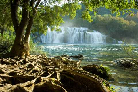 From Split or Trogir: Krka National Park with Entry Ticket