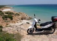 Cagliari: Scooter-Tour zu versteckten Buchten ab Chia