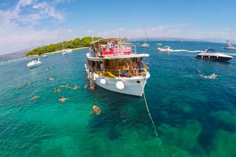 Blue Lagoon & 3 Islands Cruise with Fish Picnic from Trogir