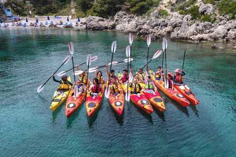 East Coast of Rhodes Sea Kayaking and Snorkeling Activity