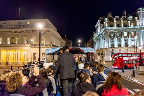 Londra by night: tour su autobus con piano scoperto