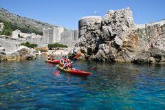 Dubrovnik: Excursão de caiaque no dia ou no pôr do sol com lanche