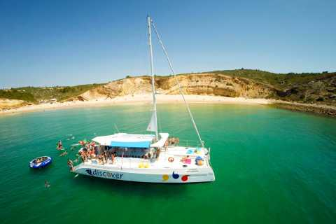 From Lagos: 3-Hour Algarve Cruise by Fun Catamaran
