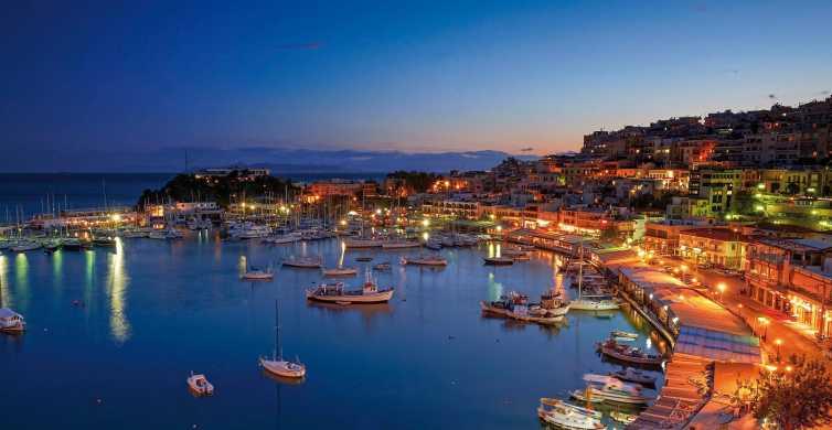 Noite no Pireu e jantar romântico em Atenas