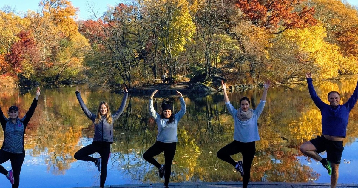 New York City Central Park Walking And Yoga Tour New York City United States Getyourguide