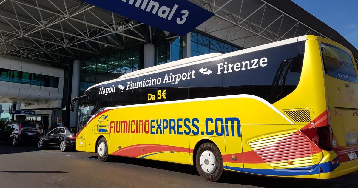 Aeroporto di Fiumicino: bus navetta da/per Napoli centro ...