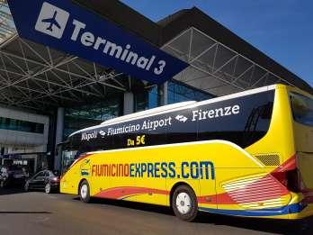 Flughafen Fiumicino: Shuttle-Bus nach/von Neapel Zentrum