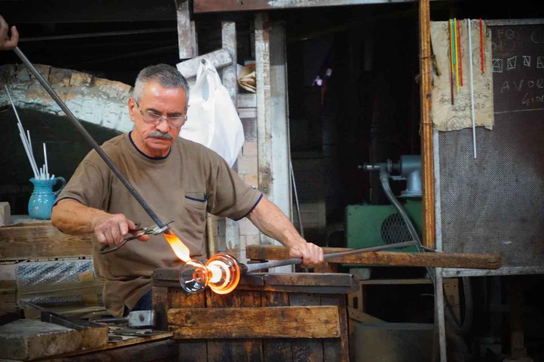 Murano: Fabriktour und Glasbläserei-Vorführung