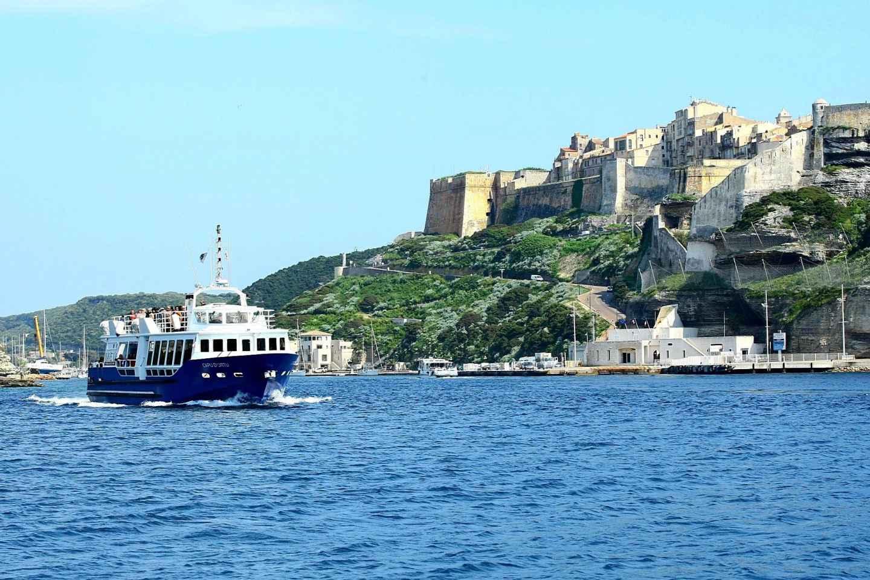 Ab Ajaccio oder Porticcio: Tagestour per Boot nach Bonifacio