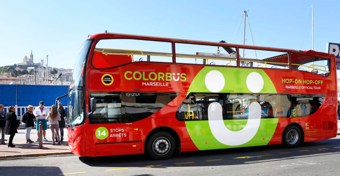 Colorbus: Panoramic tour of Marseille by Hop-On Hop-Off bus