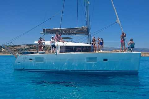 From Naxos: Full-Day Catamaran Sailing Cruise with Lunch
