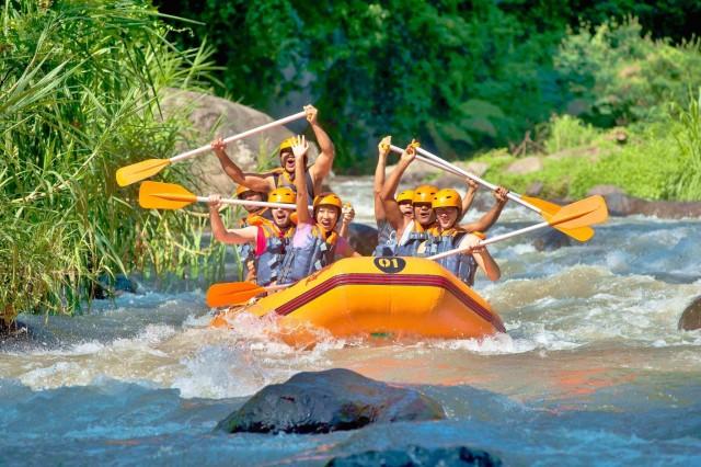 Phuket: 4-in-1 ATV, Zipline, Temple and River Rafting