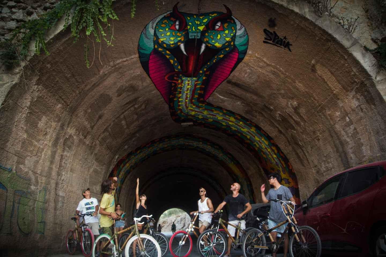 Ibiza: Private Street-Art-Tour per Fahrrad