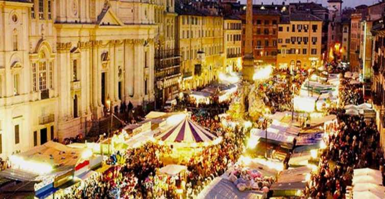 Roma: tour navideño semiprivado de 3 horas a pie