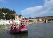 Verona: Fahrrad- und Raftingtour