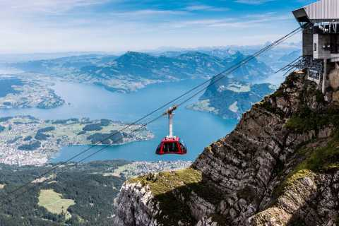Mt. Pilatus by Cable Car and Cogwheel Train & Lake Cruise