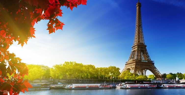 Paris: Lunch Cruise and Sightseeing Bus Tour from London