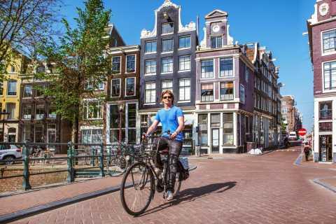 Amsterdam: location de vélo avec tasse de café gratuite