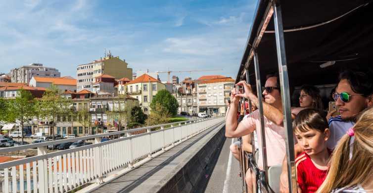 Tour di Porto in treno, crociera fluviale e cantina di vini