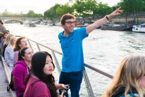 Paris: Abendliche Rad- und Bootstour