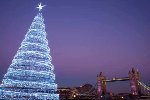 London: Christmas Lights 2-Hour Tour in Spanish