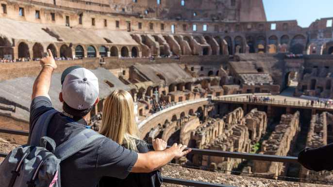 Coliseo, monte Palatino, Foro Romano: tour sin colas