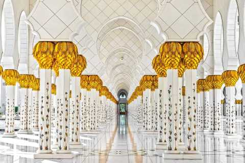 From Dubai: Grand Mosque & Louvre Museum Abu Dhabi Tour