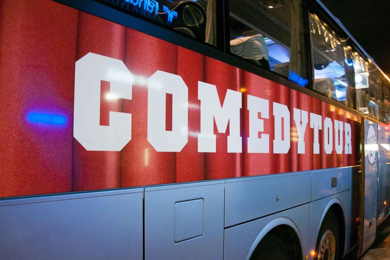 Düsseldorf: Bustour mit Comedy Stand-Up-Show