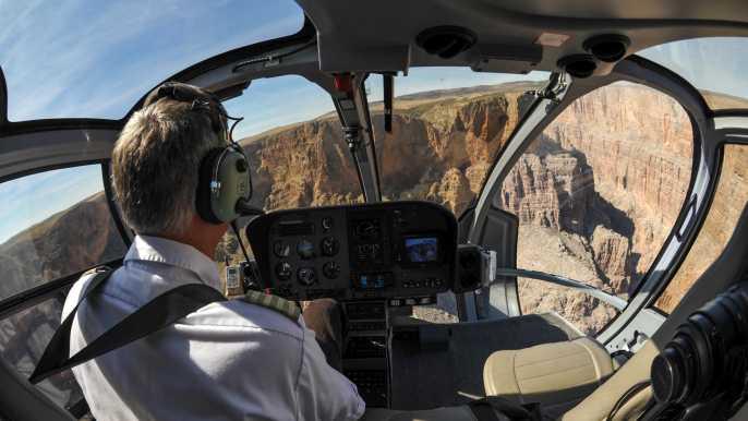 Desde el extremo Sur: tour en helicóptero al Gran Cañón