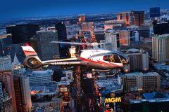 Voo de Helicóptero à Noite sobre a Las Vegas Strip