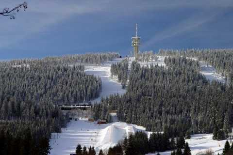 Day Trip to Klínovec Ski Area For Beginners From Prague
