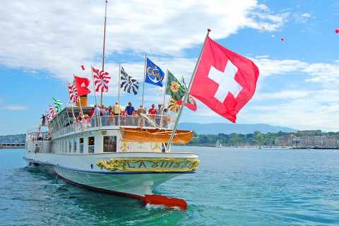 Riviera Line to Lausanne and return by Boat Cruise to Geneva