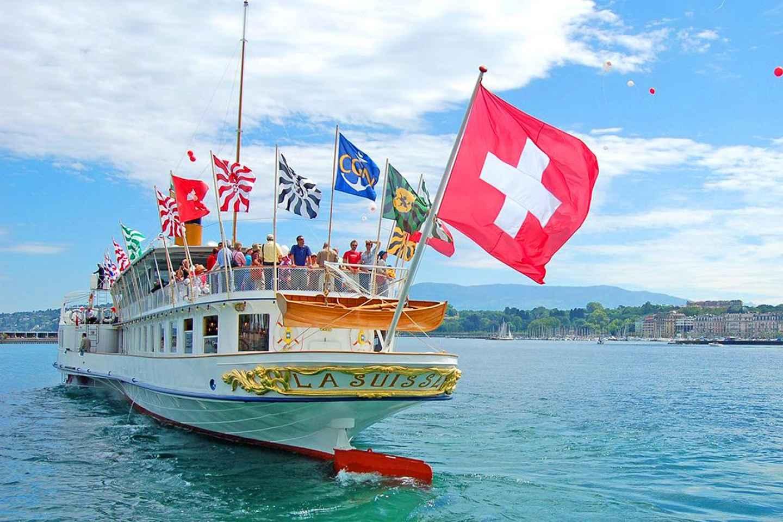 Riviera Line nach Lausanne und Rückfahrt mit dem Boot nach Genf