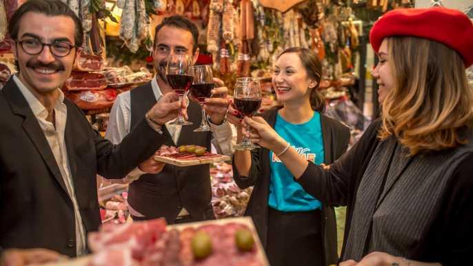 Roma: tour gastronómico y vinícola tradicional de 4 horas