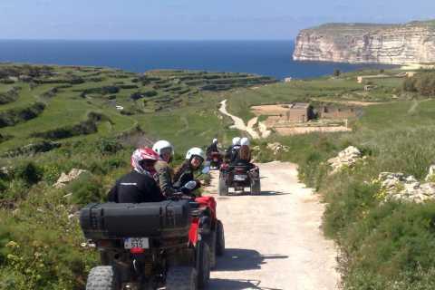 Depuis Malte: journée complète à Gozo en quad avec déjeuner